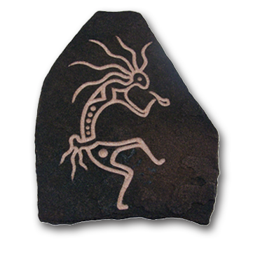 (a) Kokopelli Hand Carved Sandstone Small
