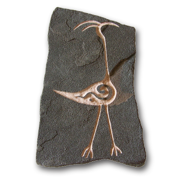 (a) Crane Hand Carved Sandstone Small