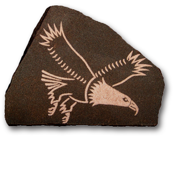 (a) Eagle Hand Carved Sandstone Small
