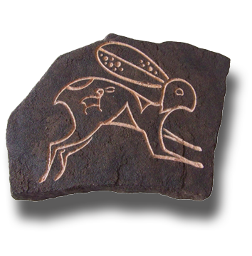 (a) Rabbit Hand Carved Sandstone Small