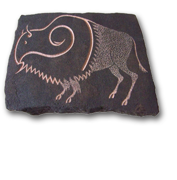 (a) Ritual Buffalo Hand Carved Sandstone Small